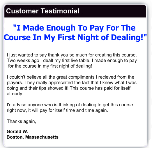 Gerald's testimonial